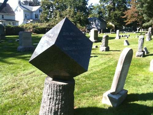 Bound Brook Cemetery: Cube Headstone