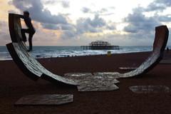 Brighton, dusk (Greg Wish) Tags: beach brighton spnp streetphotographynowproject