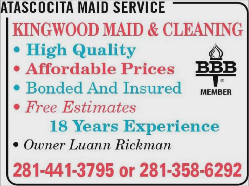Maids Humble (281)441-3795 Kingwood Maid & Cleaning Service