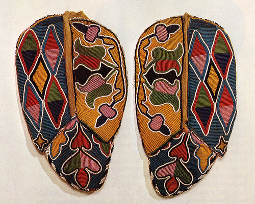 Beaded Mocassins, Iowa. c. 1860