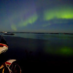 Northern light on the atlantic road (Averøy, Norway)