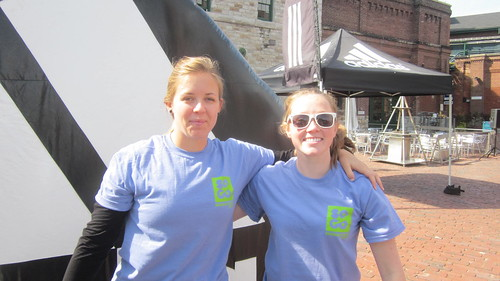 Olympic and world class athletes celebrate at the Distillery District National sports day.