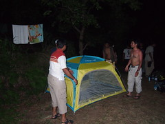 Setting up our camp