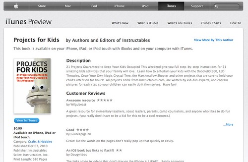 Instructales ebook, Projects For Kids