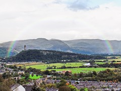 Over The Valley,Rainbow (PMacR) Tags: autumn wedding castle monument landscape scotland rainbow stirling bruce country bridges scottish forth stirlingcastle stirlinguniversity
