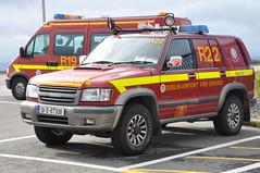 Dublin Airport Fire Service Rescue 22 2001 Isuzu Trooper FPU 01D87308 (Shane Casey CK25) Tags: 2001 ireland dublin rescue trooper fire 22 airport service prevention unit isuzu fpu 01d87308