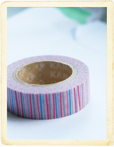 Washi with stripes