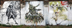zombies-vs-robots (Probs - Endoftheline) Tags: streetart painting graffiti robot amazon zombie vs eastlondon endoftheline probs ashleywood apocalypsemural whatchoocallit
