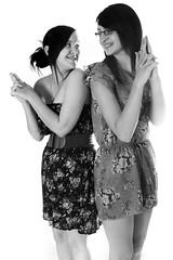 Stacie & Keley (JonCoupland) Tags: girls friends white black cute boston photoshop pose studio fun model stacie jon good young lincolnshire wilson coupland portrail keley fishtoft