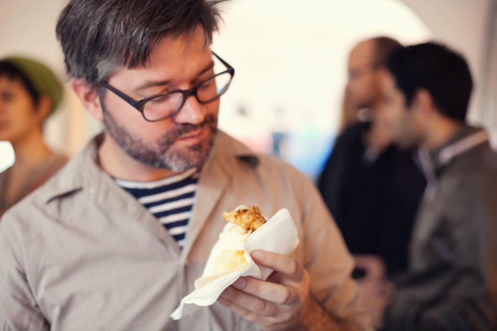 Ian & chicken and waffles cupcake