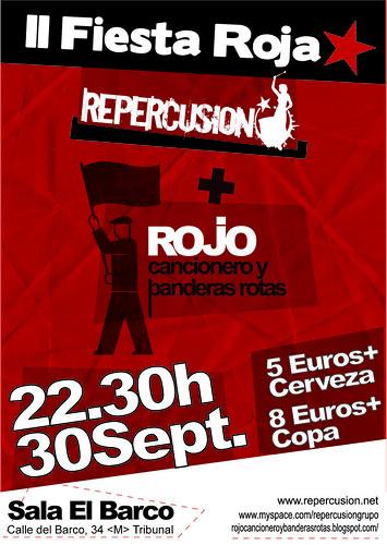 2ª Fiesta Roja en Madrid. [Repercusión+Rojo cancionero y banderas rotas] 6168189483_a7eba74692