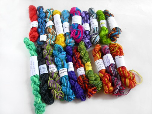 Sock yarn mini-skeins