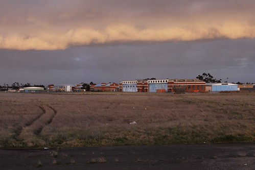 Clouds roll over the former airfield at RAAF Williams