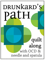 Drunkard's Path Quilt Along with OCD and Needle and Spatula
