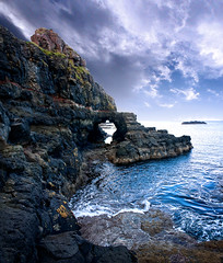 Blackrocks (North Coast Photographic) Tags: blue autumn ireland cloud white seascape west colour beach water sunshine clouds photoshop outdoors coast interestingness sand rocks exposure surf waves horizon scene cliffs atlantic explore beaches northernireland weathered hdr scenics basalt ulster portrush antrim mikejohnson causewaycoast 450d canon450d aboutireland worldhdr spatialpan cloudsstormssunsetssunrises