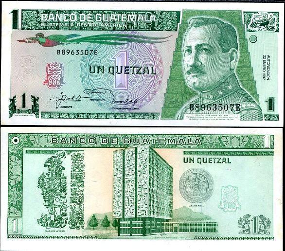 1 Quetzal Guatemala 1992, Pick 73