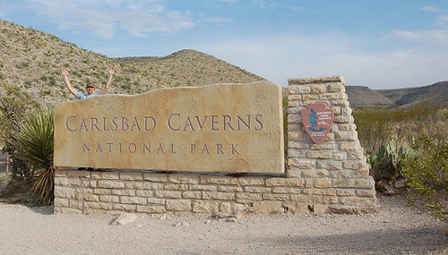 Carlsbad Caverns welcome sign