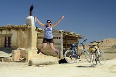 Bardenas Reales - August, 2011 (RodaLarga) Tags: jumping spain nikon navarra bardenasreales d7000