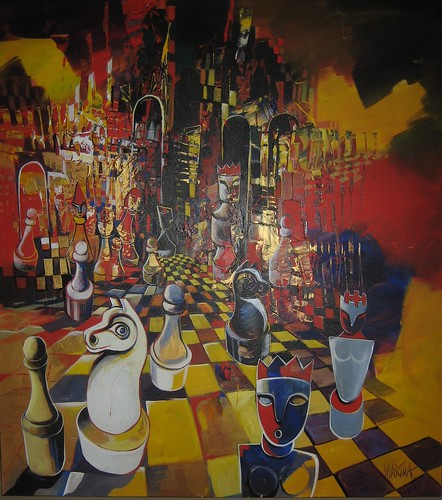 Battle Royal - Cubism Art original painting