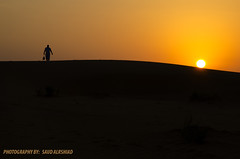 Leaving (SAUD ALRSHIAD) Tags: camera sunset sky brown sun black landscape photography golden sand nikon flickr desert kingdom arabic saudi arabia riyadh yallow ksa  saud saudia 2011 yalow     desret  landscab kingdoom flickraward  d7000  nikonflickraward thomamah nikond7000 alrshiad msawr  7000 7000