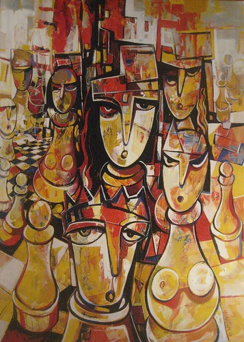 Confused  - Painting - Neo-Cubism