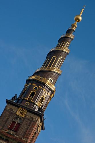 Denmark - Copenhagen - Vor Frelsers Kirke Spire tilted