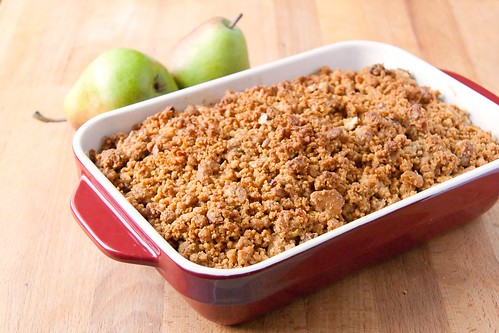 ... Pear Cranberry Crisp with Gingersnap Crumble - Crumb: A Food Blog