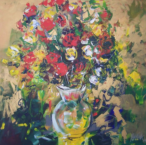 Flowers in Vase  Painting