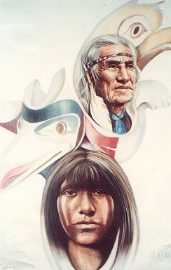 Chief Dan George - Painting - Realism