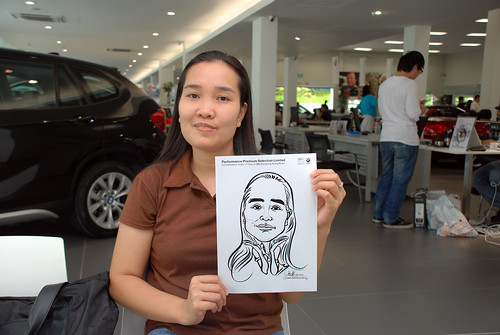 Caricature live sketching for Performance Premium Selection first year anniversary - day 3 - 12