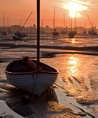 Waiting for the Tide (Dengieboy) Tags: sea seascape water sunrise landscape boat tide tidal maldon heybridge