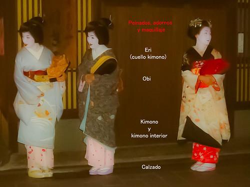 Cómo distinguir entre maikos y geishas