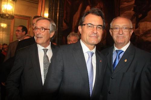 Presidente de la Generalidad y Presidente de la casa regional de Melilla en Barcelona