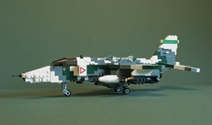 Arctic Cat (Aleksander Stein) Tags: model support close lego aircraft military low attack ground level jag
