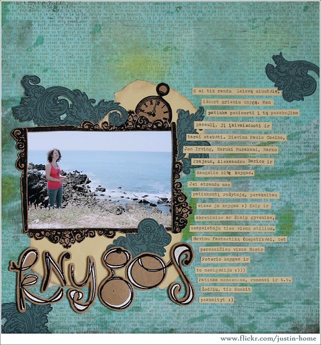 "Scrapbooking Layout ""Books"" / skrebukas ""Knygos"" by justin.home"