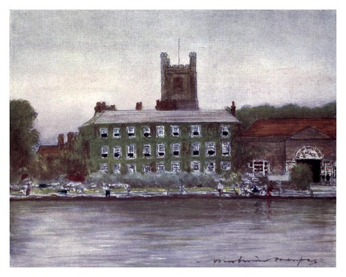 009-Hotel Red Lion en Henley-The Thames-1906- Mortimer Menpes