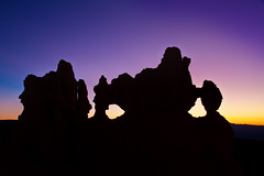 "Predawn behind 'The Mask' - Bryce Canyon NP (IronRodArt - Royce Bair (""Star Shooter"")) Tags: park blue light sunset silhouette sunrise dawn twilight sandstone glow purple canyon erosion national bryce brycecanyon predawn feature geological brycecanyonnationalpark wondersofnature"