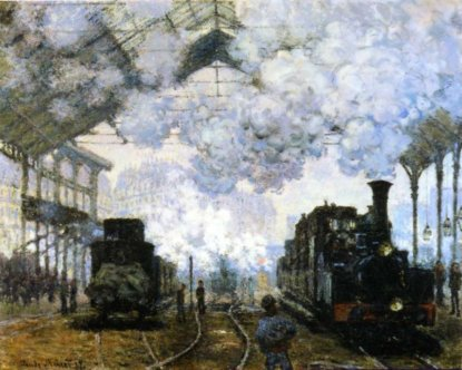 9i26 Claude Monet Gare St Lazare 1877