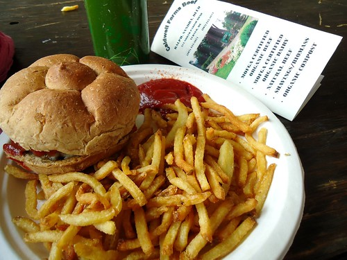 Caldwell's burger and fries, good deal