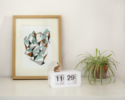 Geometric mountain print