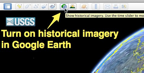 Turn on historical imagery in Google Earth