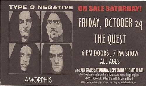 10-29-04 Type O Negative/Amorphis @ The Quest, Minneapolis, MN