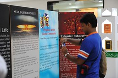 Visitor intrigued by the mention of Nuclear Holocaust in Quran (Ahsan Ghouri) Tags: islam exhibition quran holyquran ahmadi ahmedi qadian constitutionalclub ahmadiyyat quranandscience quranexhibition islamscience islamandscience constitutionalclubofindia