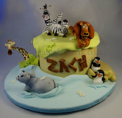 Zach's Madagascar Cake (Dot Klerck....) Tags: alex cake southafrica penguins lion capetown gloria dot jungle wellington zebra giraffe hippo melvin madagascar2 eatcakeparty