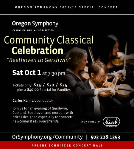 Community Classical Celebration Oregon Symphony