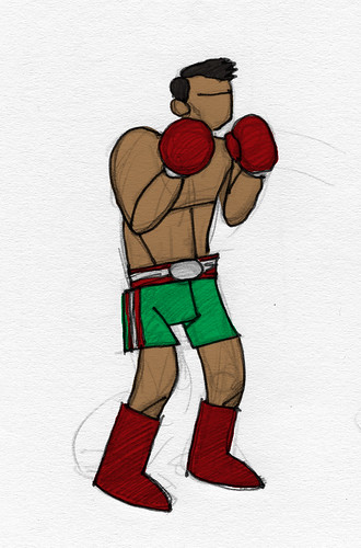 boceto boxeador by blackaller