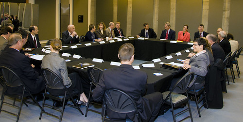 The White House Business Council Roundtable in Portland Oregon at the Gerding Theater with Agriculture Secretary Tom Vilsack and representatives from the Portland, OR Metropolitan Area on Tuesday, September 27, 2011. USDA Photo by Glen Sachet.