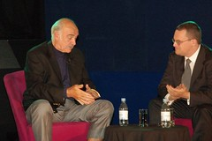 Sean Connery being interviewed by former EIFF director, Shane Danielson 2006. (FindingConnery) Tags: award sean bafta connery fountainbridge eiff