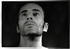 He got the look (shootforu.com) Tags: light portrait bw man male face nose eyes framed stare facial blinkagain