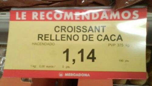 Mercadona - Croissant relleno de caca
